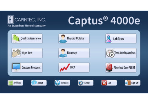 Captus ® 4000e Thyroid Uptake System- Home Screen