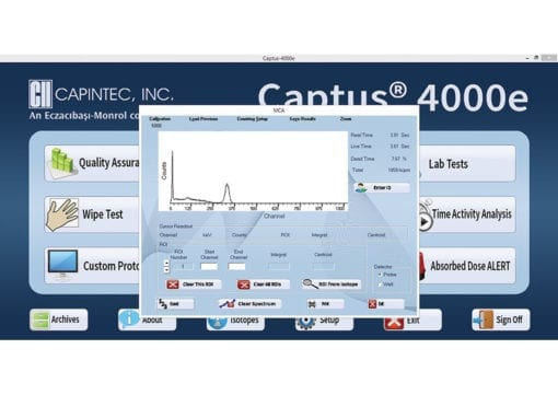 Captus ® 4000e Thyroid Uptake System- MCA Screen