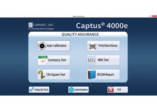 Captus ® 4000e Thyroid Uptake System- Quality Assurance Screen