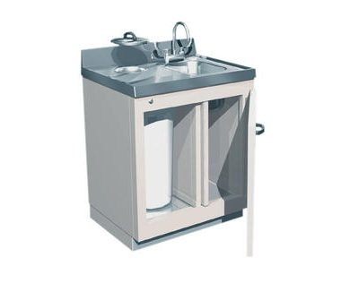 Available with reverse door swing and reverse sink location.