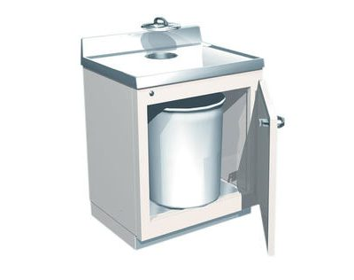 Lead-Lined Waste Cabinet